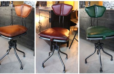 Chaise industrielle Flambo