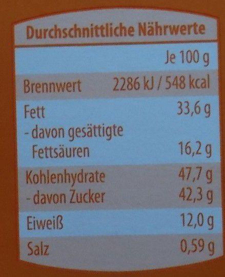 Aldi Choceur Erdnuss & Flakes Tafel