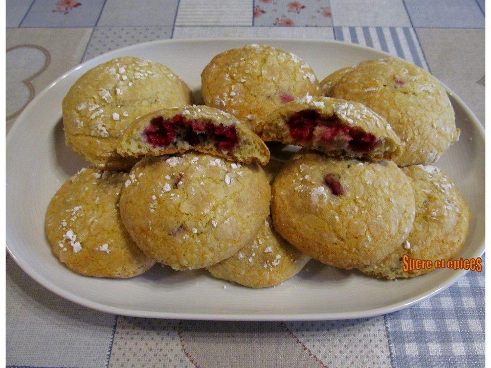 Biscuits craquelés aux framboises - Recette en vidéo