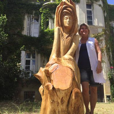 sculpture réaliser en France au château de la haute roche (Feneu) Pays de la Loire Juin 2017