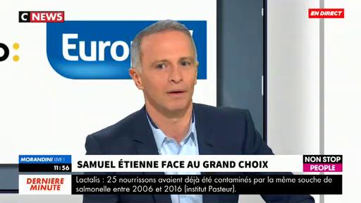 """Regardez Samuel Etienne très ennuyé au moment d'être confronté au """"Grand Choix"""" de Jean-Marc Morandini"""