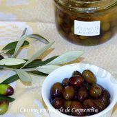 Préparation des olives en saumure - Cuisine gourmande de Carmencita