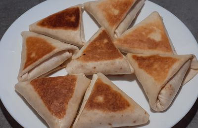 Triangles de tortillas façon croque croque-monsieur
