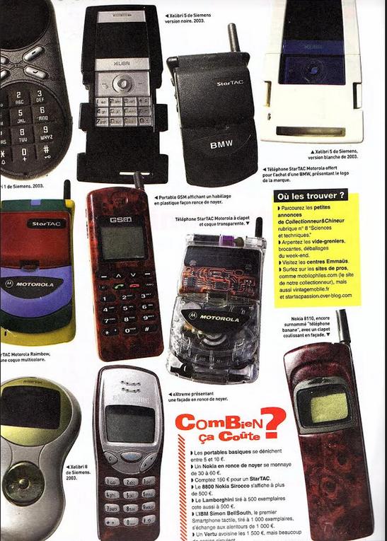 Téléphone vintage retour vers le futur