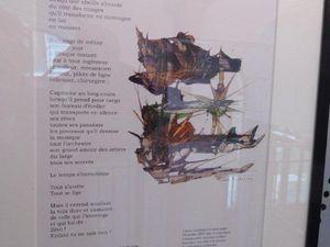 """Poèmes illustrés (sauf pour le tableau à gauche du premier cliché, qui est la version graphique de """"Parcours Secret derrière Orion""""). Il faut savoir que Robert Bichet peut réaliser de nombreuses versions illustrées d'un même poème."""