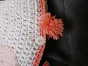 Housse de coussin au crochet  pour chambre d'enfant