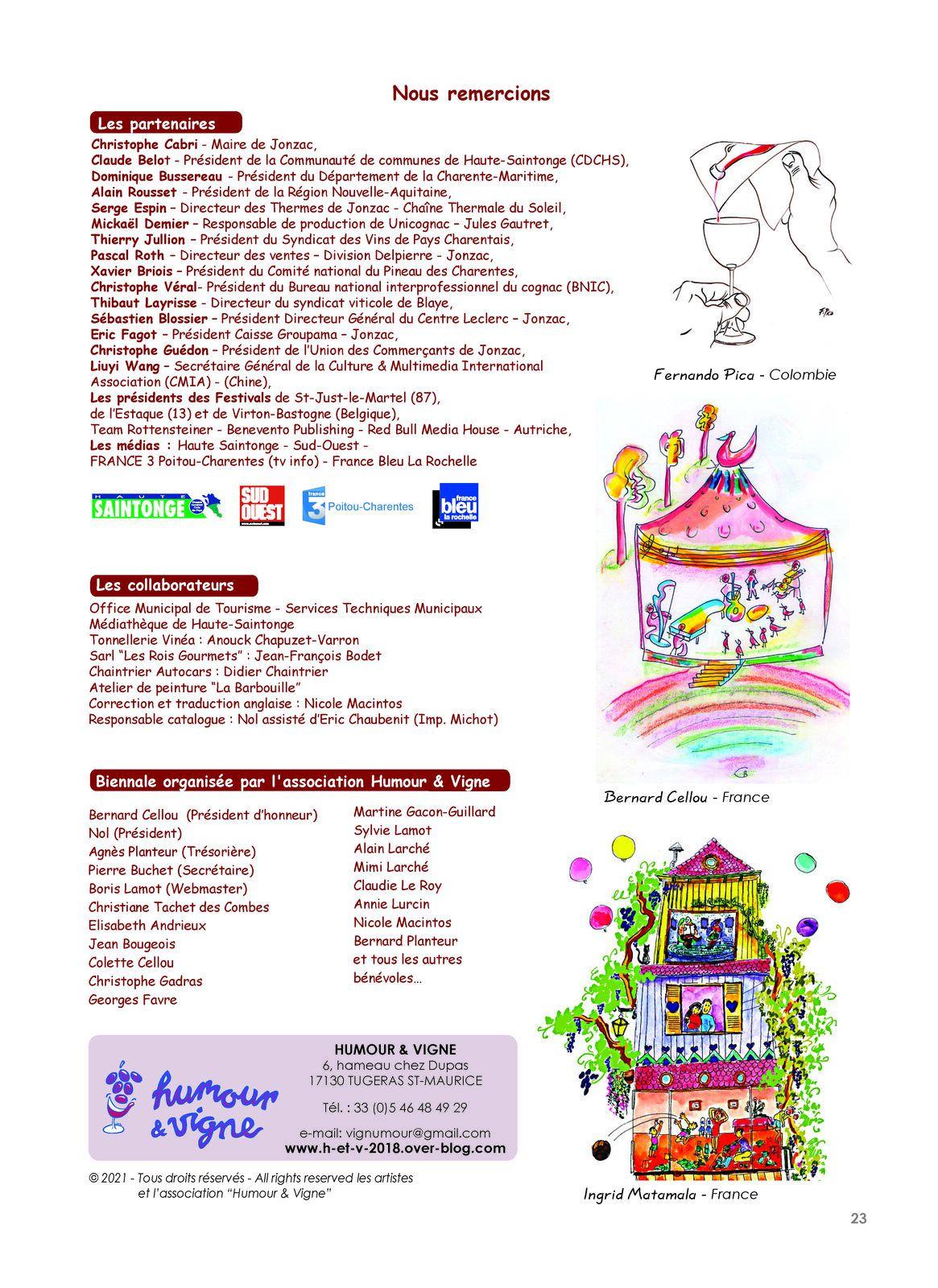 Merci aux partenaires de la 14e Biennale 2021 -Thanks to the partners of the 14th Biennale 2021