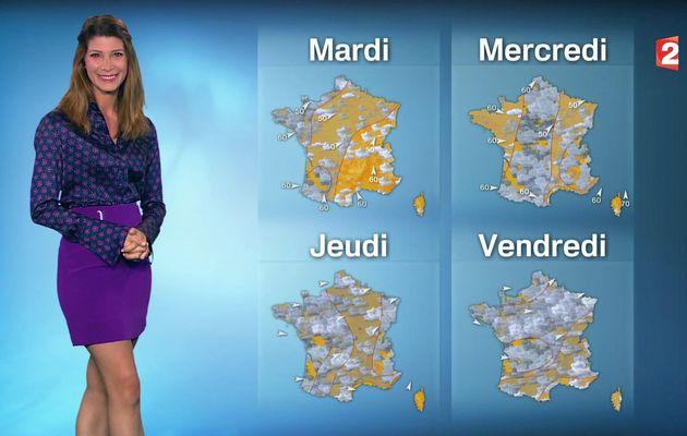 📸6 📺1 CHLOE NABEDIAN @ChloeNabedian @Soniadsm ce midi pour LA METEO @France2tv #vuesalatele