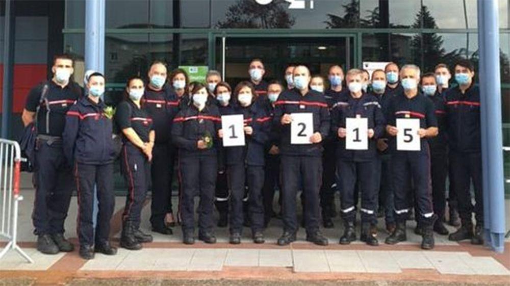 les pompiers vaccinent à Tarbes