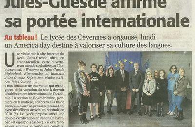 Article dans Midi libre : Partenariat Lycée Jules Guesde- www.accentfrancais.com