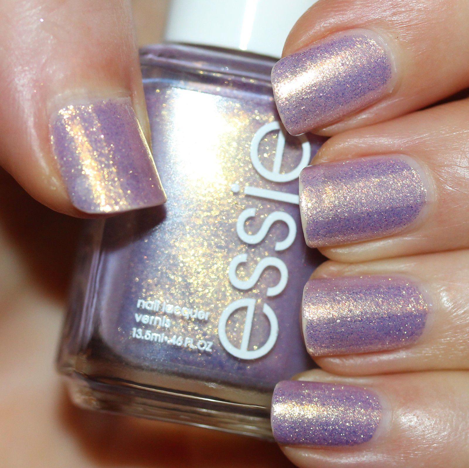 Essie Protein Base Coat / Essie Sugarplum Fairytales / Essie Gel Top Coat