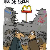 Chute du mur de Berlin - Goubelle - Dessin en direct - dessinateur de presse - Illustrateur