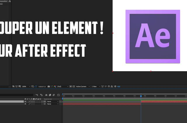 Comment couper un élément sur After Effect (AE) - Solides, calques, rushs, etc ....