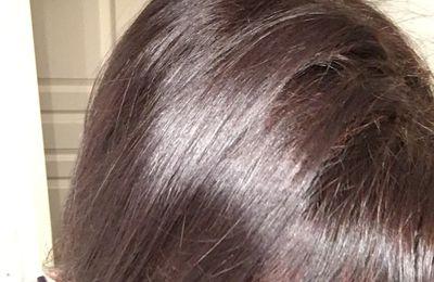 Coloration cheveux henné châtain Avant/Après