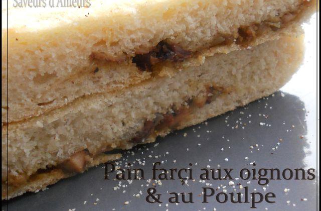 Pains farçis aux oignons et au Poulpe : بطبوط معمر