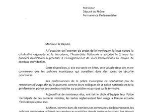 Claude COHEN, Maire de Mions (69) intervient pour les caméras piétons