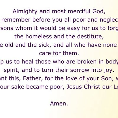 A prayer for the poor