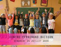 CENTRE FERDINAND BUISSON-VENDREDI 24 JUILLET 2020