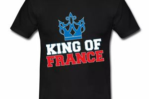 T shirt France Humour King of France HNR