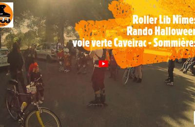 Vidéo rando d'halloween voie verte Caveirac Sommières