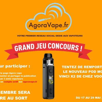 Concours - Agora Vape vous fait gagner le nouveau pod mod Vinci X2 de chez Voopoo