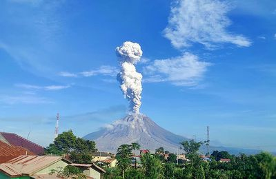 Sinabung, Kanlaon, Fagradalsfjall and La Fournaise activity.