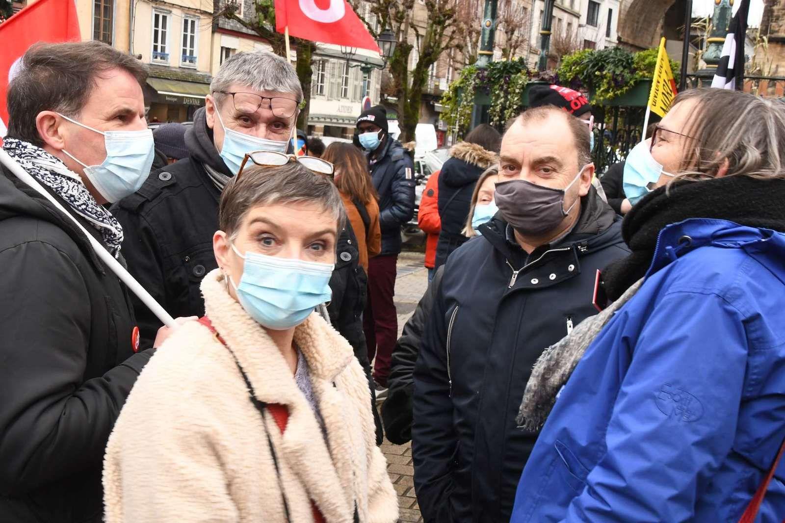 Photo Daniel Laporte - Manif pour la régularisation des sans papiers - Morlaix, 19 janvier 2021