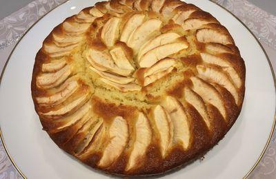 Moelleux aux pommes et crème d'amande