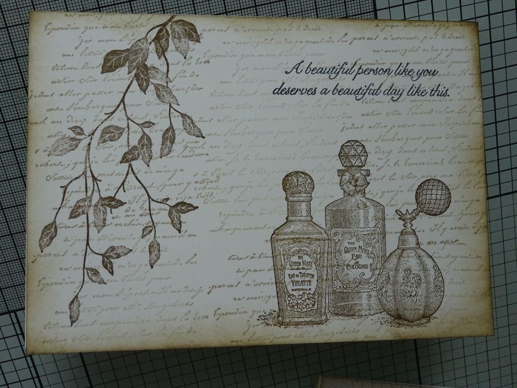 [Stampin'Up!®] carte pop-up avec les sets de tampons Very Versailles et Fanciful Fragrance