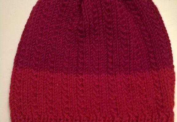 Tricoter un bonnet enfant 3 à 7 ans au point de graminée
