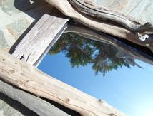 Miroir bois flotté (détail)