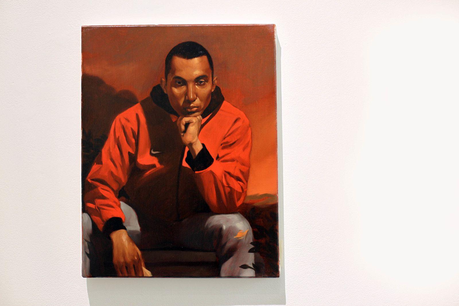 """""""A young guy with a message"""", 2020 de Jean Baptiste BOYER - Courtesy de l'artiste et de la galerie Galerie Laure Roynette  © Photo Éric Simon"""
