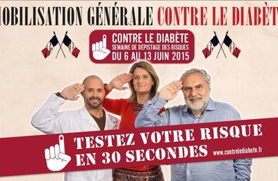 Semaine nationale de dépistage des risques du diabète de type 2 du 6 au 13 juin