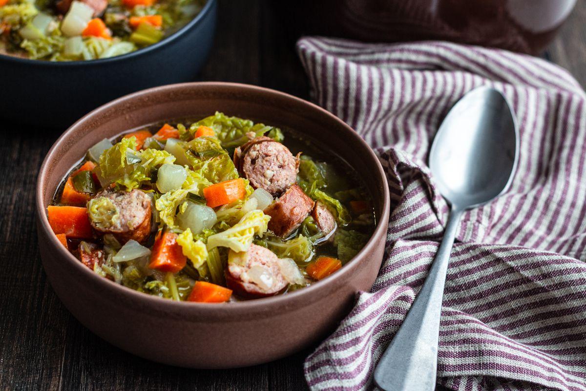 soupe paysanne saucisse