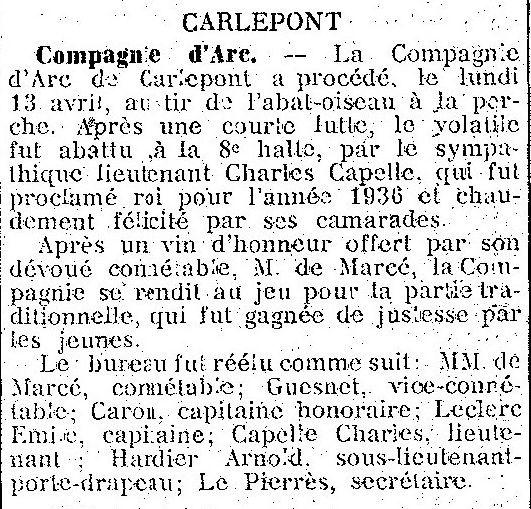 Album - le village de Carlepont (Oise), au fil des mois au cours des années 1800 et 1900