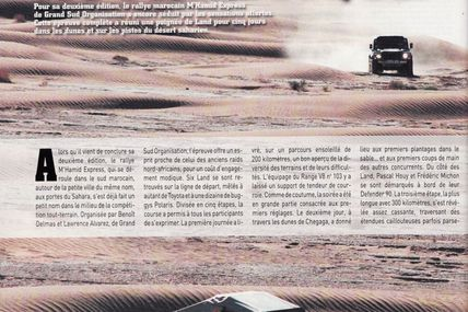 LE RALLYE AUTHENTIQUE, LAND MAG du mois d'avril
