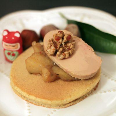 [ RECETTE FLUFFIE ] Pancakes aux épices, Chutney de poires et Foie gras