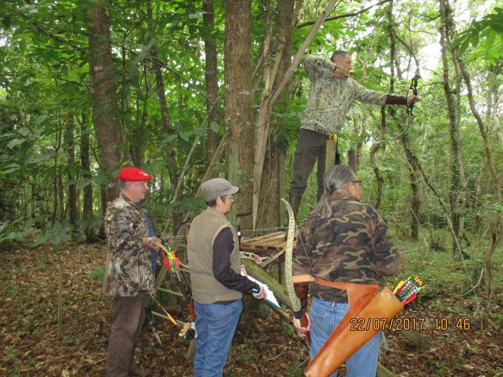 entrainement des archers de l'association des chasseurs à l'arc de grande briere.