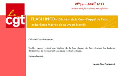 FLASH INFO - les barèmes Macron de nouveau écartés