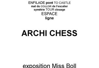 EXPOSITION ARCHI CHESS