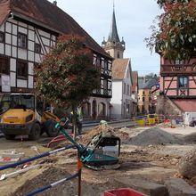 Obernai, le secteur piéton