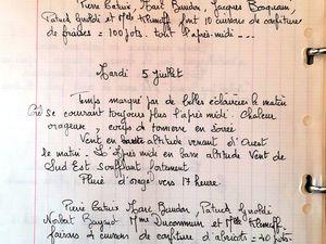 """Relevés et notes de Patrick Giroldi et dessin """"les 4 saisons"""" par Jean-Louis Beuché."""
