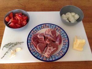Préparation du jus de veau - coloration de la viande