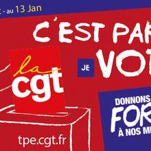 Ouverture du vote dans le TPE : votez CGT !