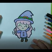 Como dibujar una bruja 🧙 paso a paso 10 | How to draw a witch 🧙 10