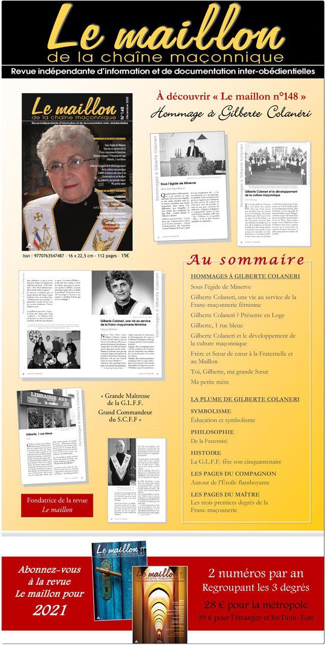 Le Maillon N° 148 : Spécial Gilberte Colaneri