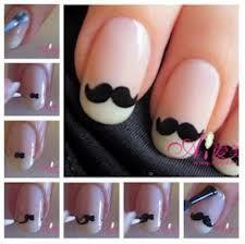 Nail Art Moustache !♥
