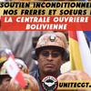 Crise en Bolivie : la Centrale Ouvrière Bolivienne en première ligne pour la démocratie, la justice et la liberté