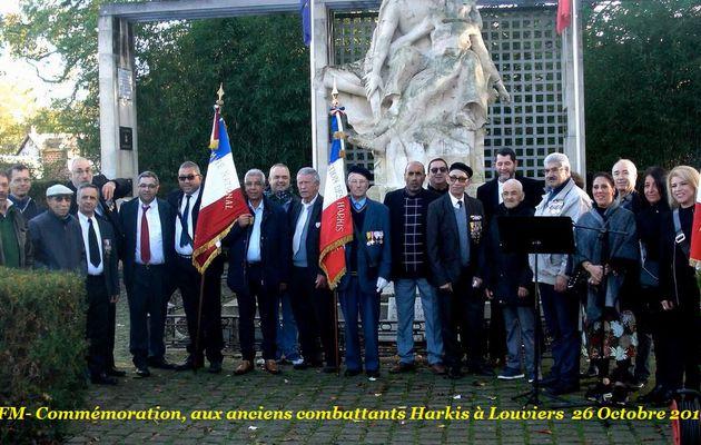Commémoration, aux anciens combattants Harkis à Louviers (27) le 26 Octobre 2019