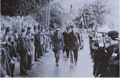 DE GAULLE EN CORSE EN OCTOBRE 1943.